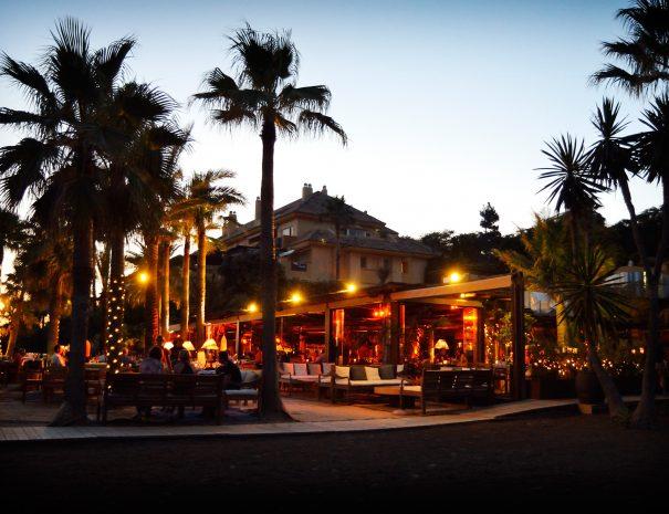 Marbella Tennisferie Trocadero Strandrestaurant Troacadero Strand Marbella